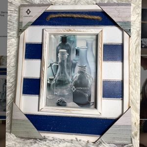 Concept In Time Navy Blue/White Picture Frame